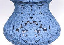 Artistic 3D Printed Prototype in Rigid Blue 3D Printing Material
