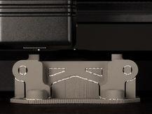 Desktop metal 3d printed hinge